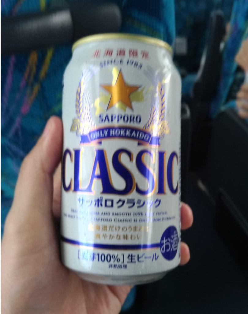 やっぱバス旅行といえばビールですよね!