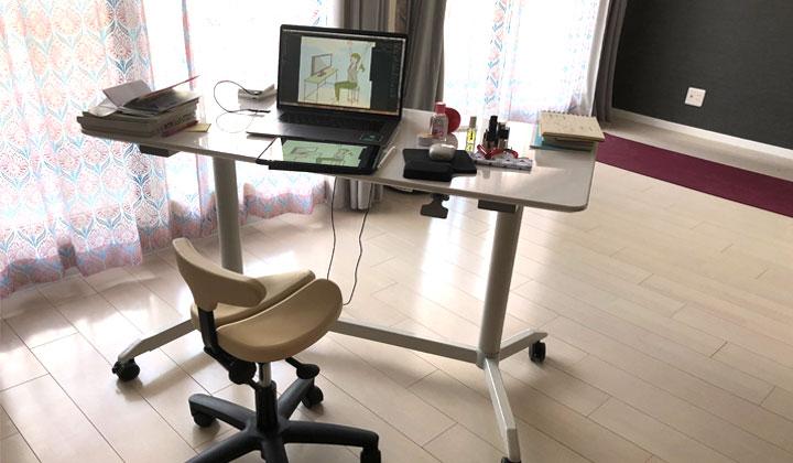 【リモートワーク】デザイナー&ヨガインストラクターの仕事環境
