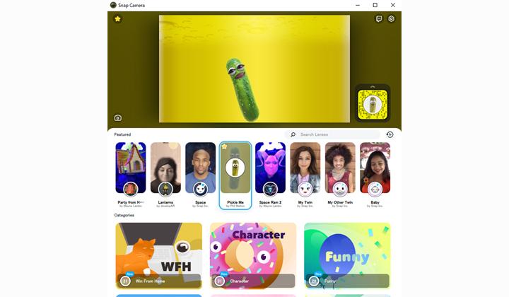 リモートワークのWEBツール、SnapCamera